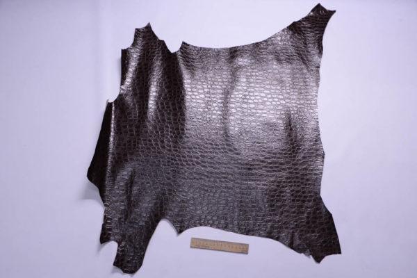 Кожа МРС с тиснением, тёмно-коричневая, 45 дм2-108878