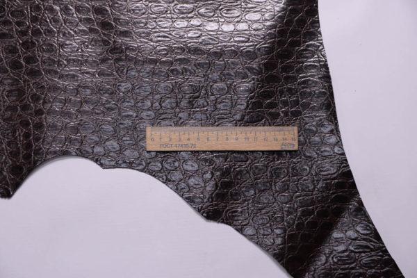 Кожа МРС с тиснением, тёмно-коричневая, 38 дм2-108880