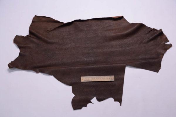 Кожа козы (краст), тёмно-коричневая, 24 дм2.-108981