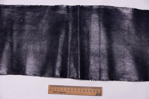 Кожа змеи (Karung), тёмно-синяя, 128х22 см.-zm4-12