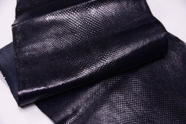 Кожа змеи (Karung), тёмно-синяя, 137х23 см.-zm4-14
