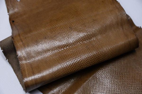 Кожа змеи (Karung), светло-коричневая, 143х24 см.-zm4-22