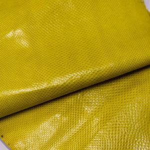 Кожа змеи (Karung), жёлтая, 142х22 см.-zm4-8