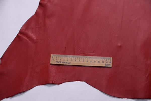 Кожа МРС, красная, 50 дм2.-109014