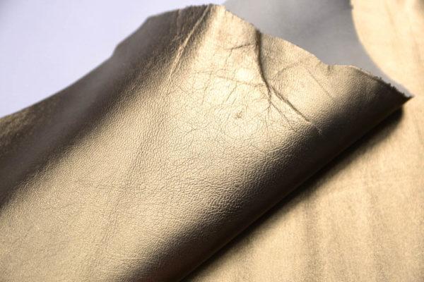 Кожа МРС, тёмное золото, 53 дм2.-109052