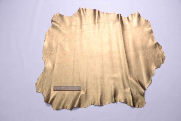 Кожа МРС, тёмное золото, 47 дм2.-109053