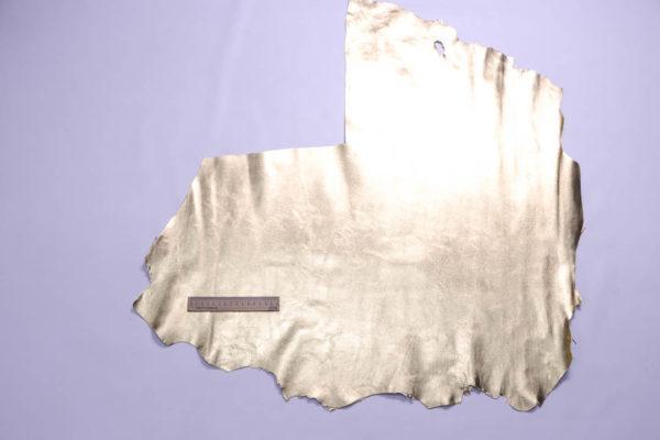 Кожа МРС, светлое золото, 46 дм2.-109058