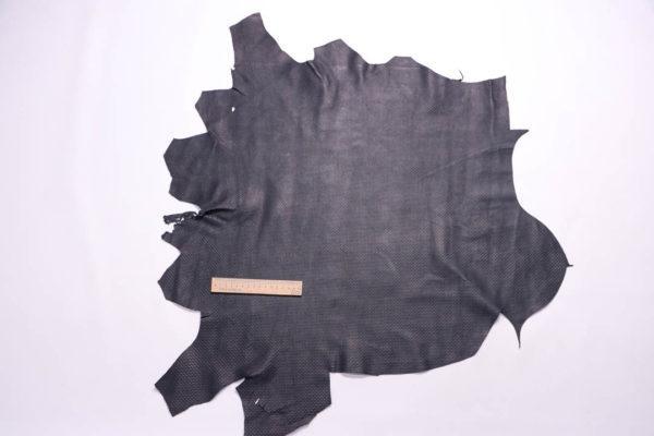 Кожа МРС с тиснением, чёрная, 39 дм2.-109080