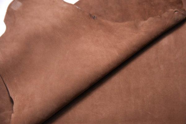 Нубук КРС (склизок), светло-коричневый, 50 дм2.-109092