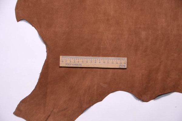 Нубук КРС (склизок), светло-коричневый, 52 дм2.-109093