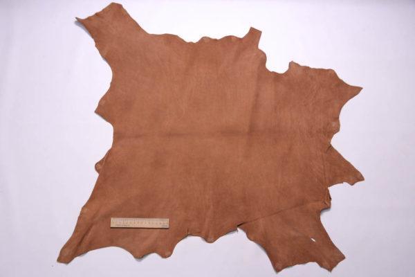 Нубук КРС (склизок), светло-коричневый, 49 дм2.-109095