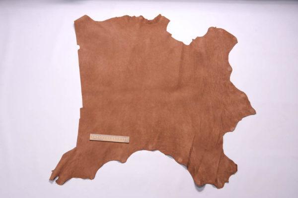 Нубук КРС (склизок), светло-коричневый, 43 дм2.-109096