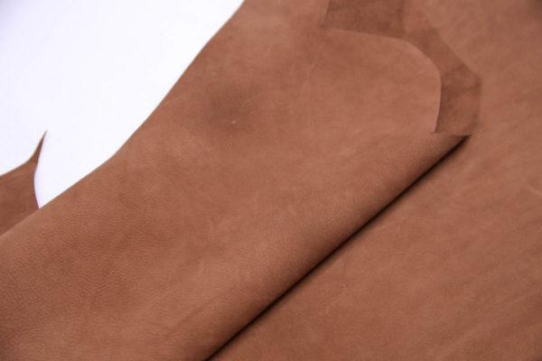 Нубук КРС (склизок), светло-коричневый, 37 дм2.-109097