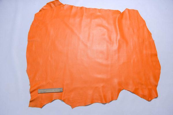 Кожа одёжная МРС, оранжевая, 65 дм2.-109102