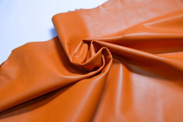 Кожа одёжная МРС, оранжевая, 71 дм2.-109104
