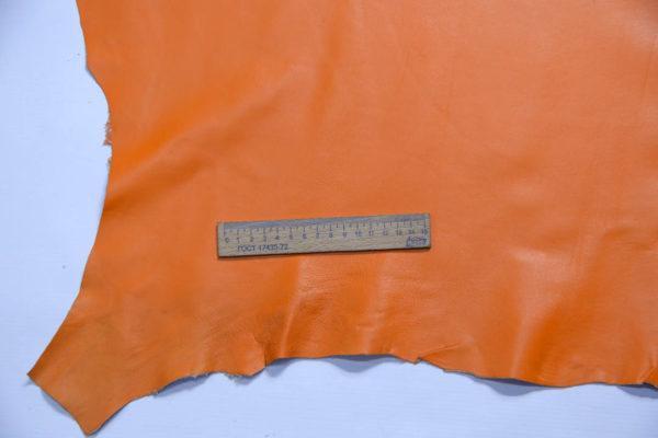 Кожа одёжная МРС, оранжевая, 70 дм2.-109106