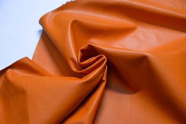 Кожа одёжная МРС, оранжевая, 66 дм2.-109108