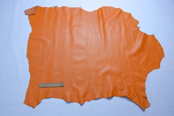 Кожа одёжная МРС, оранжевая, 62 дм2.-109109