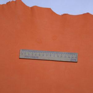 Кожа МРС (краст), морковная, 50 дм2.-109120