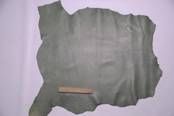 Кожа одёжная МРС, болотная, 34 дм2.-109134