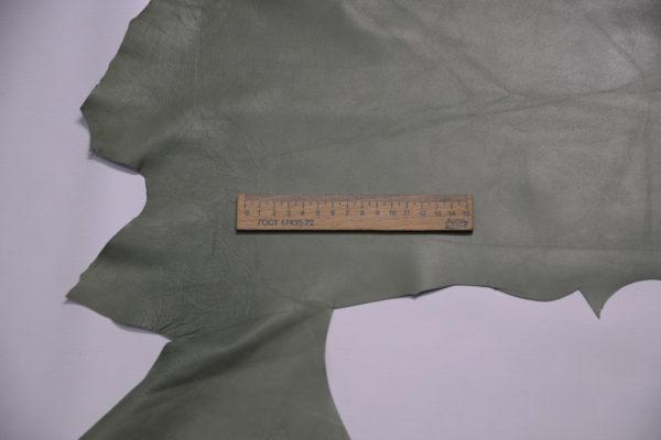 Кожа одёжная МРС, болотная, 34 дм2.-109137
