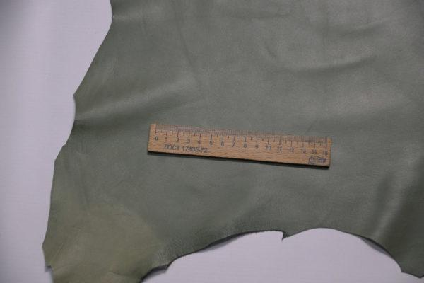Кожа одёжная МРС, болотная, 43 дм2.-109141