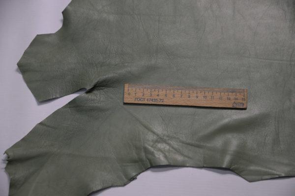 Кожа одёжная МРС, болотная, 41 дм2.-109142
