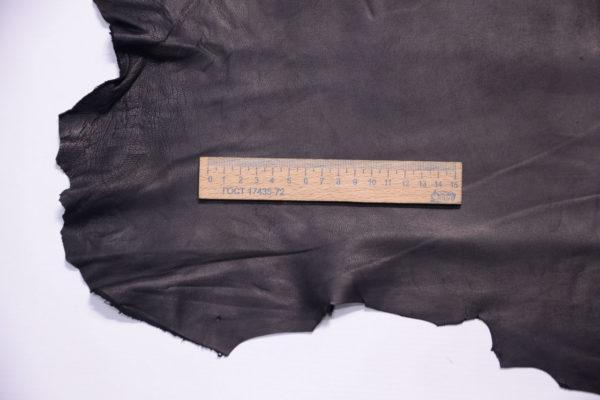 Кожа одёжная МРС, чёрная, 47 дм2, Derma S.r.l.-109146