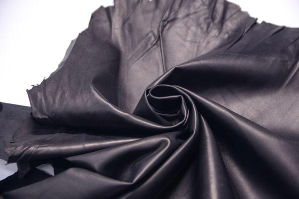 Кожа одёжная МРС, чёрная, 34 дм2, Derma S.r.l.-109148