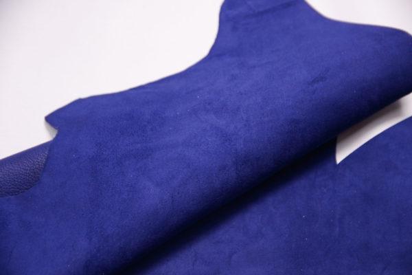 Велюр МРС (коза), синий, 20 дм2, Conceria Stefania S. p. A.-109154