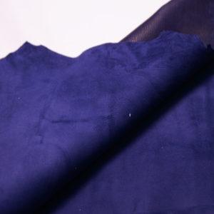 Велюр МРС (коза), синий, 42 дм2, Conceria Stefania S. p. A.-109155