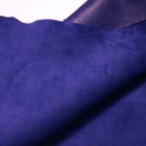 Велюр МРС (коза), синий, 43 дм2, Conceria Stefania S. p. A.-109156