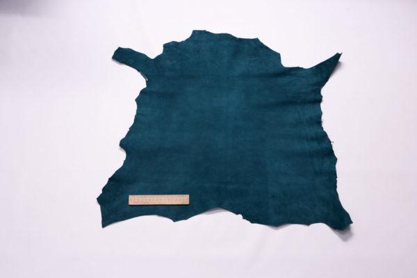Велюр МРС (коза), тёмно-бирюзовый, 34 дм2, Derma S.r.l.-109159