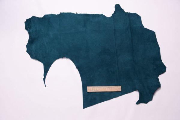 Велюр МРС (коза), тёмно-бирюзовый, 25 дм2, Derma S.r.l.-109161