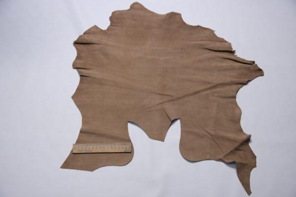 Велюр МРС, тёмно-бежевый, 20 дм2, Conceria Stefania S. p. A.-109183