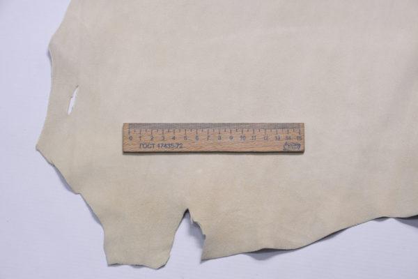 Велюр МРС, светло-бежевый, 35 дм2, Conceria Gaiera GIOVANNI S.p.A.-109203
