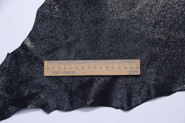 Велюр МРС, с принтом, чёрный, 34 дм2.-109206
