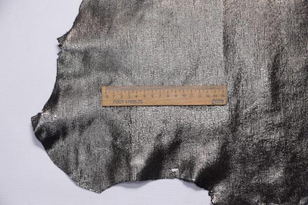 Велюр МРС с принтом, серый металлик, 58 дм2.-109208