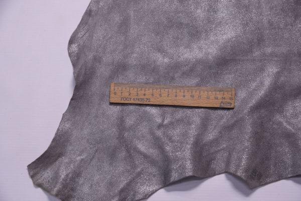Велюр МРС с принтом, серый металлик, 56 дм2.-109218