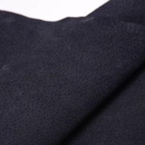 Кожподклад свиной (спилок), чёрный, 54 дм2.-401052