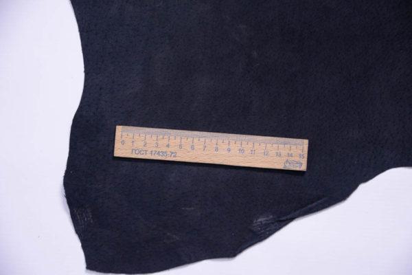 Кожподклад свиной (спилок), чёрный, 39 дм2.-401053