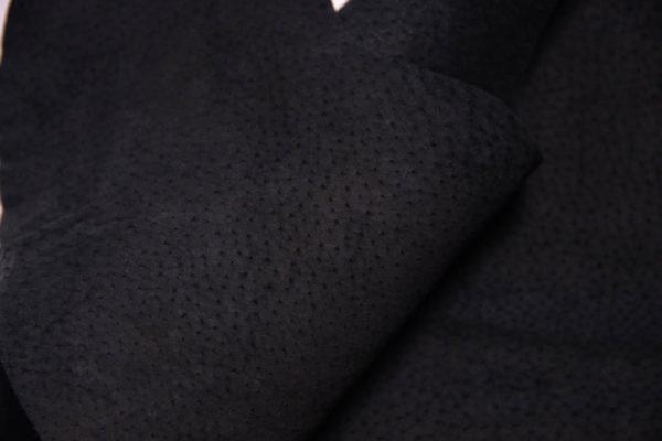 Кожподклад свиной (спилок), чёрный, 39 дм2.-401055