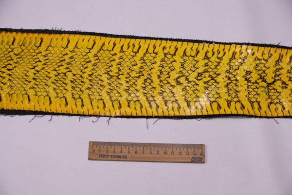 Кожа змеи, жёлтая, 125х12 см.-zm4-106