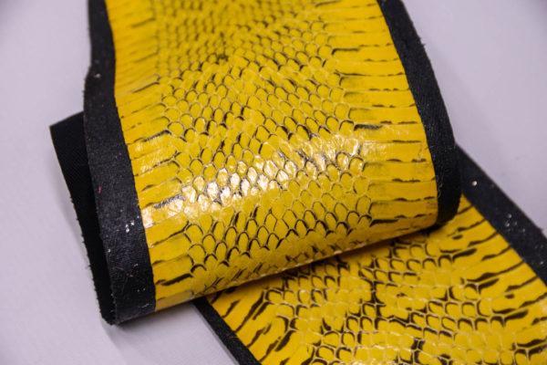 Кожа змеи, жёлтая, 147х12 см.-zm4-107