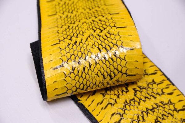 Кожа змеи, жёлтая, 140х12 см.-zm4-108