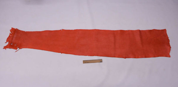 Кожа змеи (Karung), коралловая, 137х24 см.-zm4-29