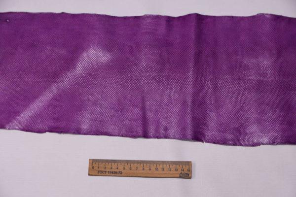 Кожа змеи (Karung), лиловая, 133х21 см.-zm4-55