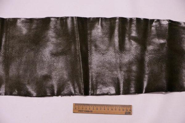 Кожа змеи (Karung), тёмно-оливковая, 111х22 см.-zm4-69