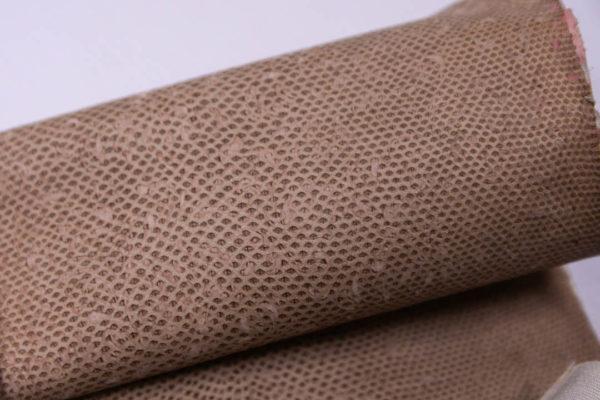 Нубук змеи (Karung), с тиснением, какао, 50х22 см.-zm4-75
