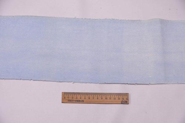 Нубук змеи (Karung), светлый джинс, 137х16 см.-zm4-83
